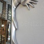 Kız Model Gümüş Renk Boy Aynası-22