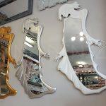 Kız Model Gümüş Renk Boy Aynası-27