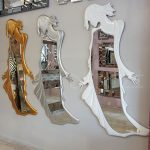 Kız Model Gümüş Renk Boy Aynası-28