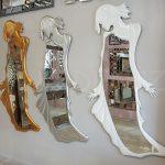 Kız Model Gümüş Renk Boy Aynası-29