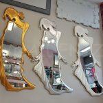 Kız Model Gümüş Renk Boy Aynası-30