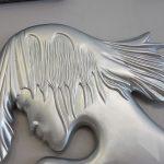 Kız Model Gümüş Renk Boy Aynası-8