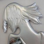 Kız Model Gümüş Renk Boy Aynası-9