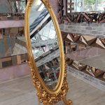 Selvi Model Altın Renk Ayaklı Boy Aynası-1