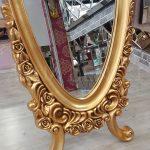 Selvi Model Altın Renk Ayaklı Boy Aynası-10