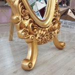 Selvi Model Altın Renk Ayaklı Boy Aynası-11