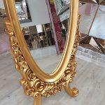 Selvi Model Altın Renk Ayaklı Boy Aynası-12