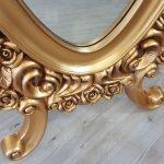 Selvi Model Altın Renk Ayaklı Boy Aynası-14