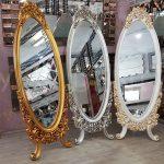 Selvi Model Altın Renk Ayaklı Boy Aynası-18