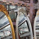 Selvi Model Altın Renk Ayaklı Boy Aynası-22