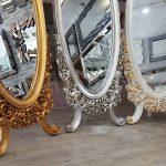 Selvi Model Altın Renk Ayaklı Boy Aynası-23