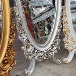 Selvi Model Altın Renk Ayaklı Boy Aynası-24