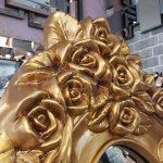 Selvi Model Altın Renk Ayaklı Boy Aynası-3