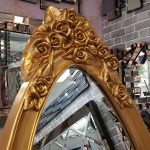 Selvi Model Altın Renk Ayaklı Boy Aynası-4