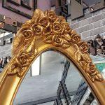 Selvi Model Altın Renk Ayaklı Boy Aynası-5