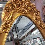 Selvi Model Altın Renk Ayaklı Boy Aynası-6