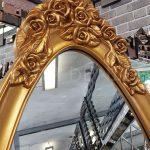 Selvi Model Altın Renk Ayaklı Boy Aynası-7