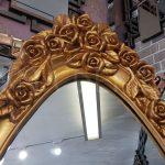 Selvi Model Altın Renk Ayaklı Boy Aynası-8