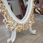 Selvi Model Beyaz Sedef Renk Ayaklı Boy Aynası-10