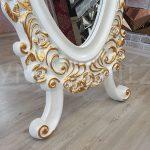 Selvi Model Beyaz Sedef Renk Ayaklı Boy Aynası-12