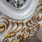 Selvi Model Beyaz Sedef Renk Ayaklı Boy Aynası-14
