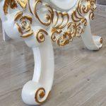 Selvi Model Beyaz Sedef Renk Ayaklı Boy Aynası-15
