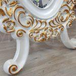 Selvi Model Beyaz Sedef Renk Ayaklı Boy Aynası-16