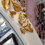 Selvi Model Beyaz Sedef Renk Ayaklı Boy Aynası-18