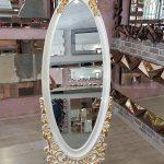 Selvi Model Beyaz Sedef Renk Ayaklı Boy Aynası-2