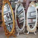 Selvi Model Beyaz Sedef Renk Ayaklı Boy Aynası-20