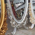 Selvi Model Beyaz Sedef Renk Ayaklı Boy Aynası-22