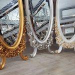 Selvi Model Beyaz Sedef Renk Ayaklı Boy Aynası-23