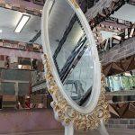 Selvi Model Beyaz Sedef Renk Ayaklı Boy Aynası-4