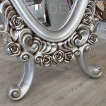 Selvi Model Gümüş Renk Ayaklı Boy Aynası-12