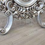 Selvi Model Gümüş Renk Ayaklı Boy Aynası-14