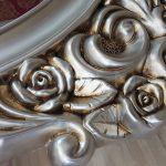 Selvi Model Gümüş Renk Ayaklı Boy Aynası-15