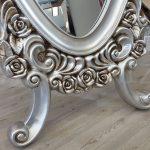 Selvi Model Gümüş Renk Ayaklı Boy Aynası-16
