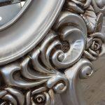 Selvi Model Gümüş Renk Ayaklı Boy Aynası-17