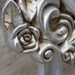 Selvi Model Gümüş Renk Ayaklı Boy Aynası-19