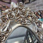 Selvi Model Gümüş Renk Ayaklı Boy Aynası-3