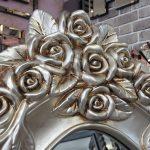 Selvi Model Gümüş Renk Ayaklı Boy Aynası-4