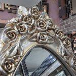Selvi Model Gümüş Renk Ayaklı Boy Aynası-6