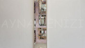 Floransa Model Gümüş Renk Dekoratif Niş Ayna