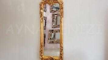 Klasik Boncuklu Model Altın Renk Boy Aynası