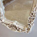 Klasik Boncuklu Model Eskitme Beyaz Renk Boy Aynası-11