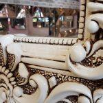 Klasik Boncuklu Model Eskitme Beyaz Renk Boy Aynası-15