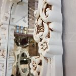 Klasik Boncuklu Model Eskitme Beyaz Renk Boy Aynası-17