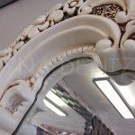 Klasik Boncuklu Model Eskitme Beyaz Renk Boy Aynası-18