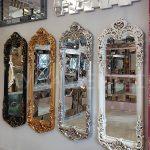 Klasik Boncuklu Model Eskitme Beyaz Renk Boy Aynası-21