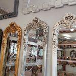 Klasik Boncuklu Model Eskitme Beyaz Renk Boy Aynası-23